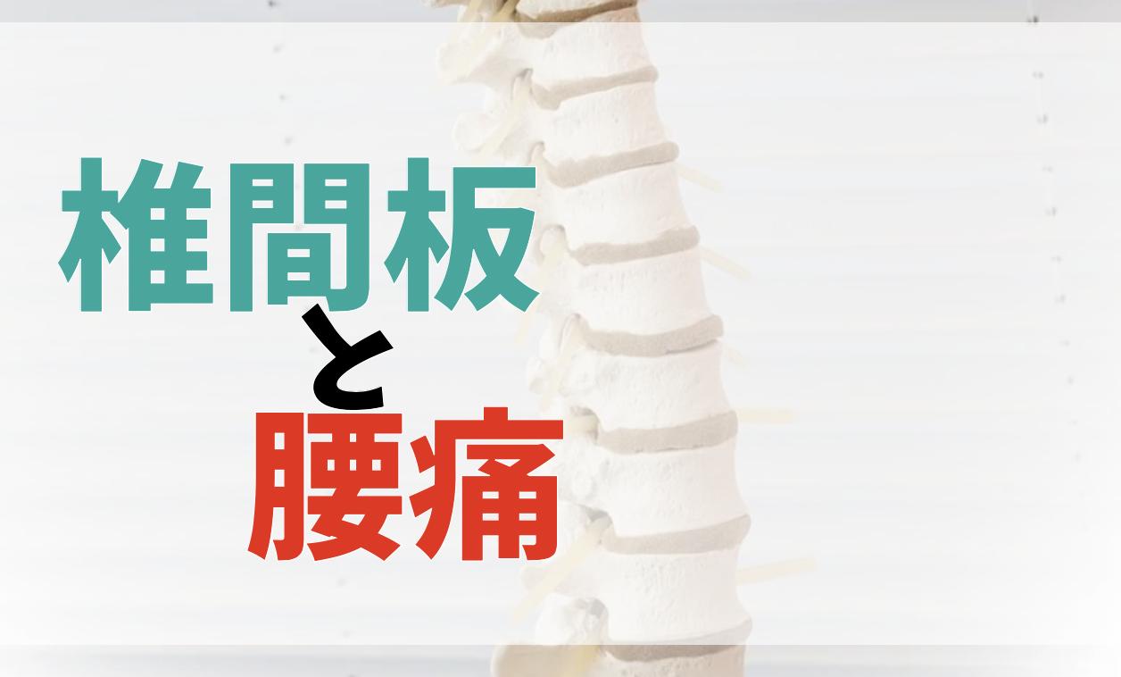 椎間板変性と腰痛